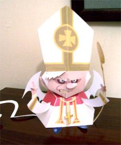 Vino, celebró misa.... y se fue
